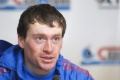 Максим Вылегжанин (1-е место в дуатлоне 3.04.07) на пресс-конференции