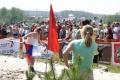 Мария Киселева финиширует с российским флагом!