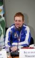 Александр Кузнецов (золото в эстафете 5.04.07) на пресс-конференции