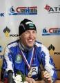 Евгений Дементьев (золото в эстафете 5.04.07) на пресс-конференции
