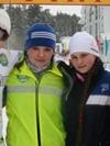 победительныцы этафетной гонки Октябрьский р-он: Андреева, Абдукарова, Гребеля, ...